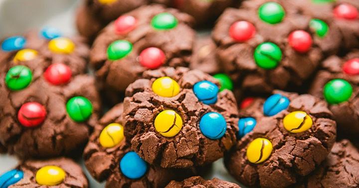 Печенье M&M's фото