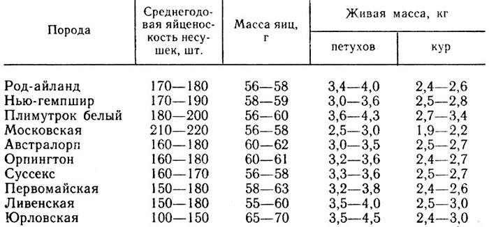 Сравнение кур в таблице