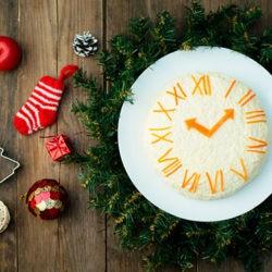 фотоСалат «Новогодние часы»: рецепт с фото