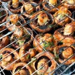 фото 5 лучших способов готовки шампиньонов на углях