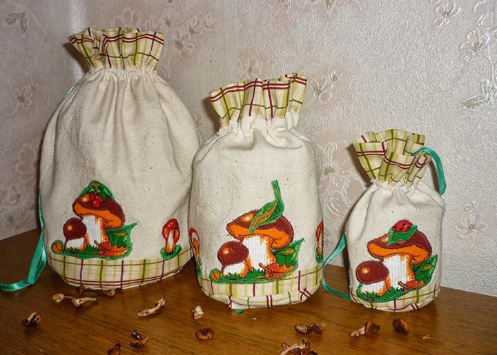 мешочки для шампиньонов