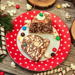 фотоТорт из конфет на Новый Год