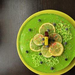 фотоФруктовый желейный торт на Новый Год