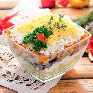 Традиционные новогодние салаты фото